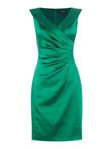 Tahari ASL Sleeveless dress with rouched waist