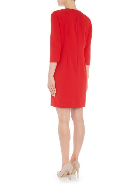 Tahari ASL Red dress with keyhole neckline