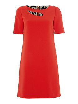 Red Dress with Cut Out Detail