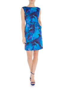 Tahari ASL Floral print tulip shape dress