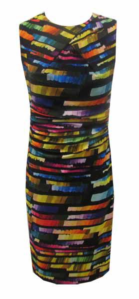 Tahari ASL Jersey Multicoloured Dress, Multi-Coloured