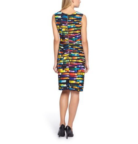 Tahari ASL Jersey Multicoloured Dress