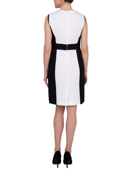 Tahari ASL Black and White Shift Dress