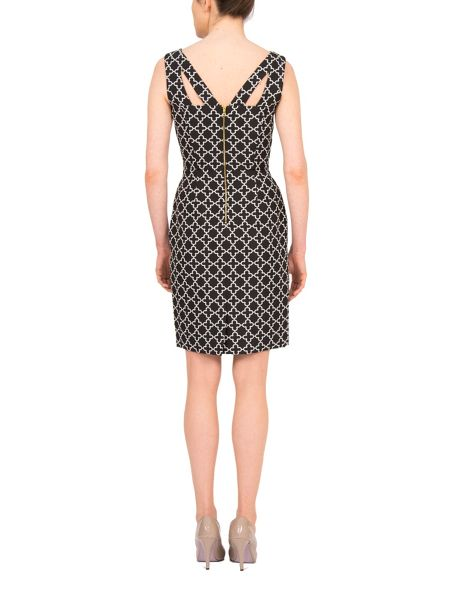 Tahari ASL Shift dress with golden zip at the back