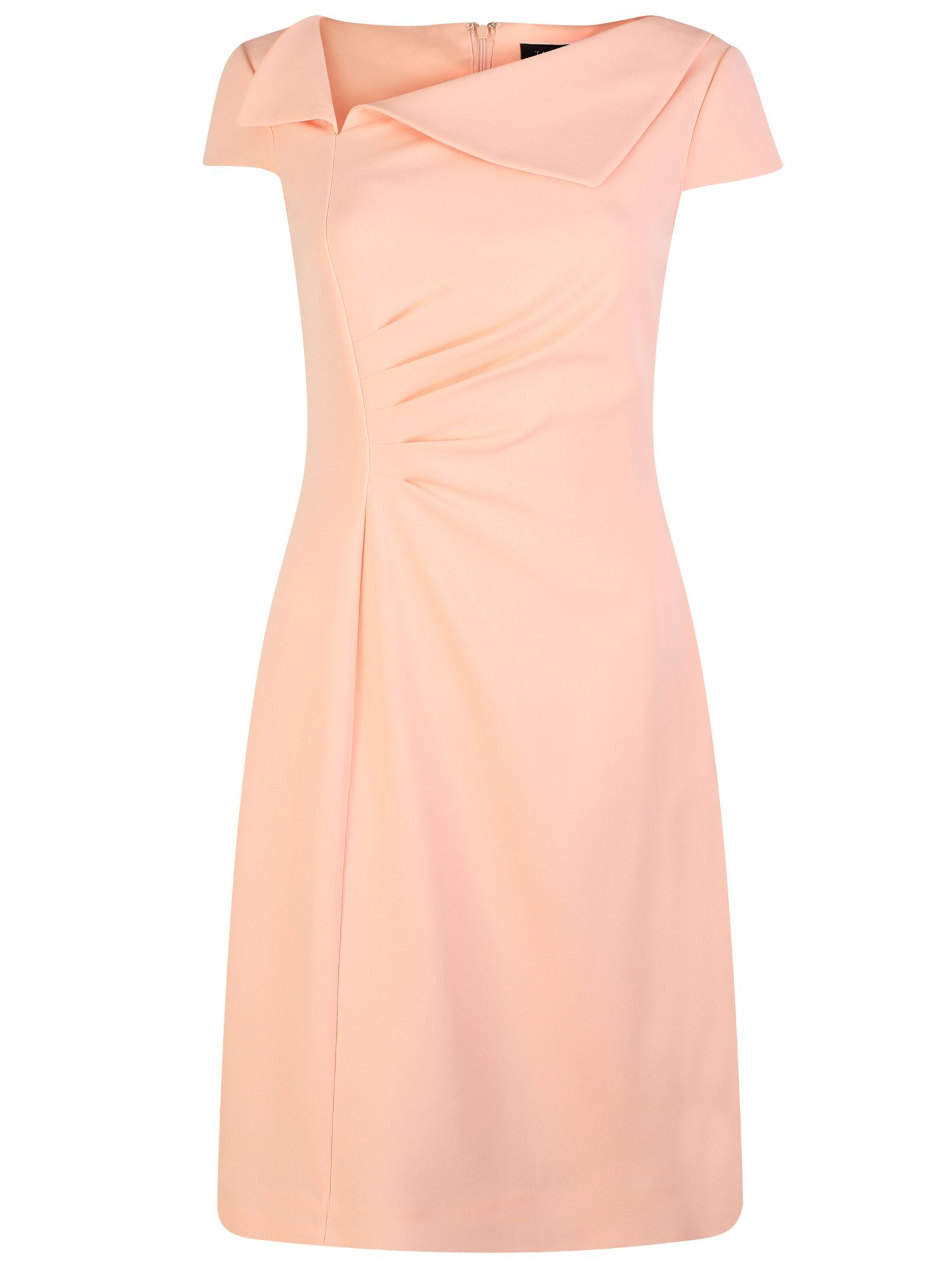 Tahari ASL Shift Dress with Envelope Collar, Pink
