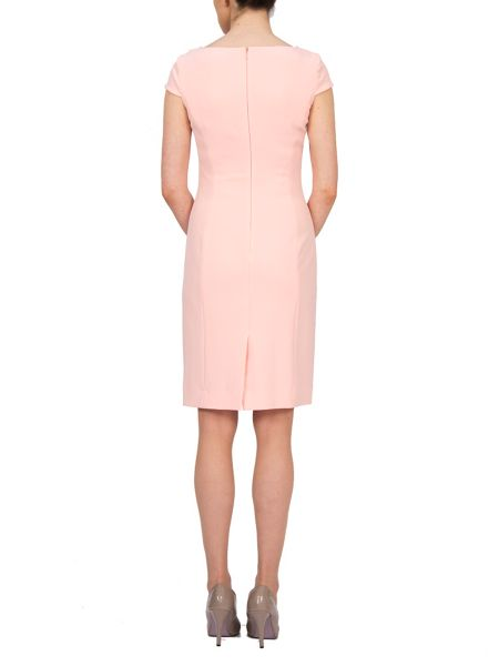 Tahari ASL Shift Dress with Envelope Collar