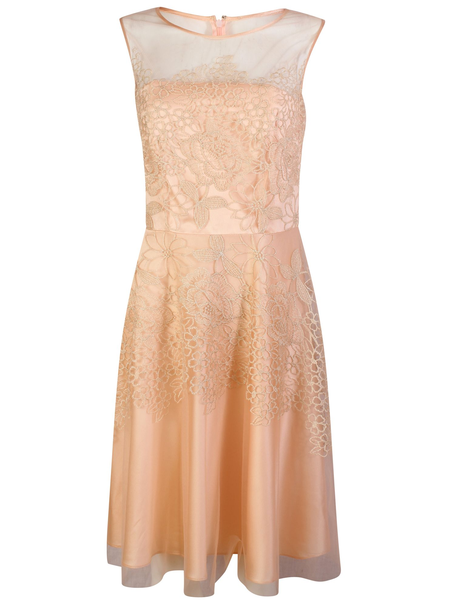 Tahari ASL Fit and flare blush pink dress, Pink