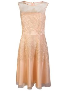 Tahari ASL Fit and flare blush pink dress