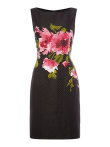 Tahari ASL Floral Print Sleeveless Shift Dress