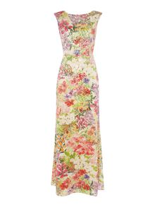 Tahari ASL Floral Sequin Dress