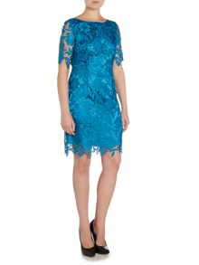 Tahari ASL 3/4 Sleeved Lace Dress
