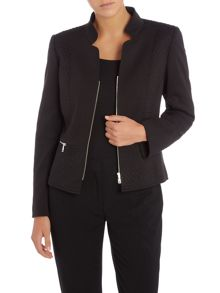 Tahari ASL Black Textured Jacket