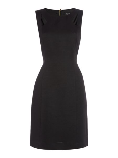 Tahari ASL Black Cut-Out Dress