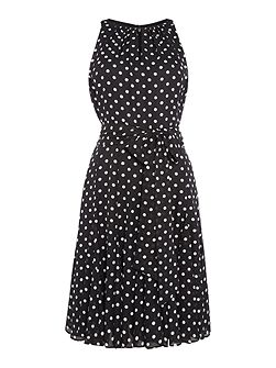 Polka Dot Dress With Keyhole Neckline