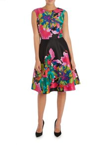 Tahari ASL Fit and Flare Print Dress