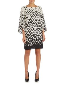 Tahari ASL Print Tunic Dress
