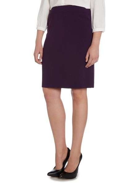 Tahari ASL French Purple Mid-length Skirt