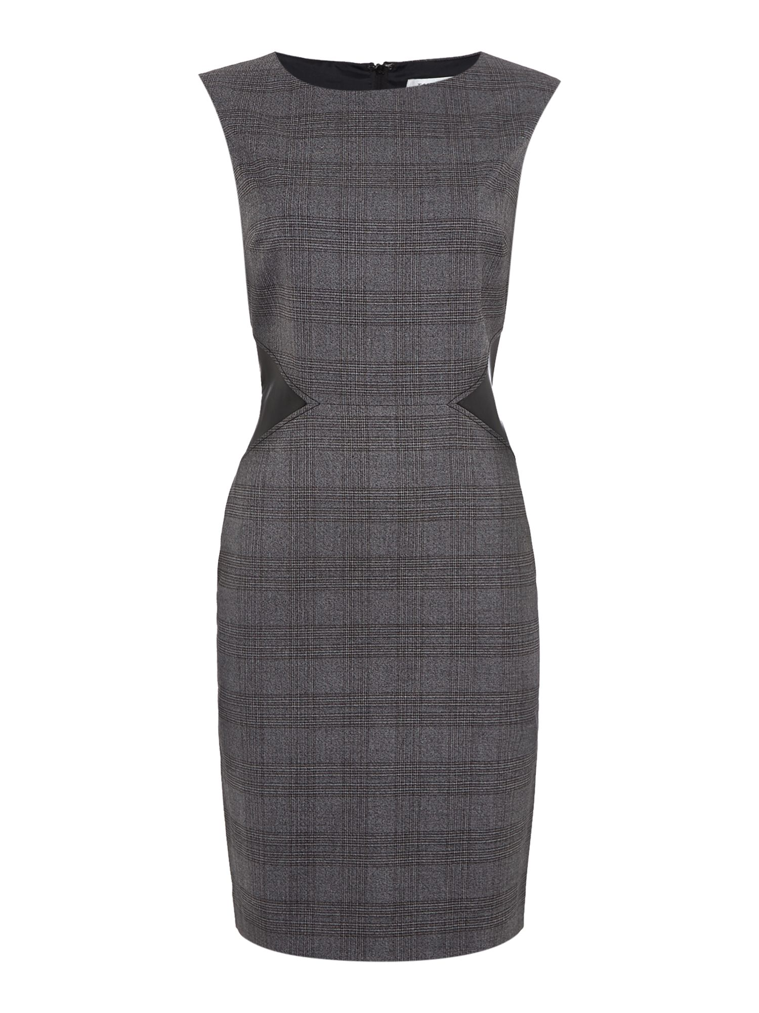 Tahari ASL Grey and Black Shift Dress, Grey