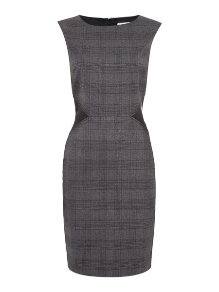 Tahari ASL Grey and Black Shift Dress