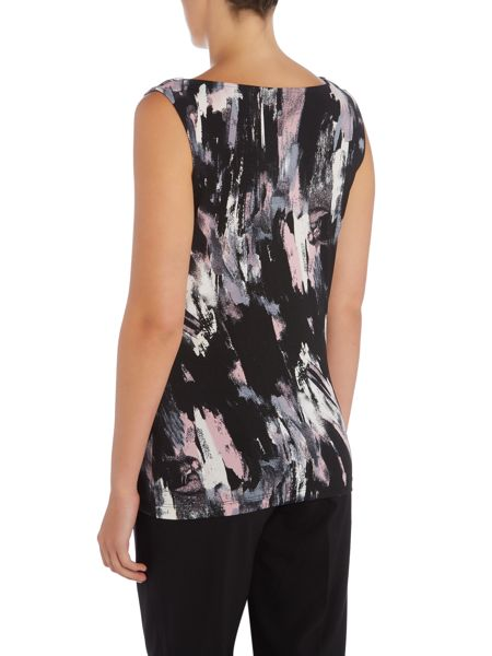 Tahari ASL Print Top With Cowl Neckline