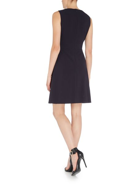 Tahari ASL Fit and Flare Belted Dress