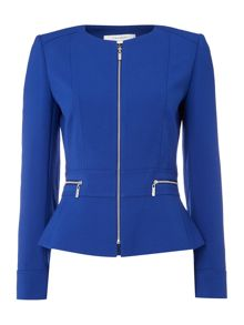 Tahari ASL Tailored Jacket With Zip Pockets
