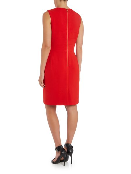 Tahari ASL Red Shift Dress