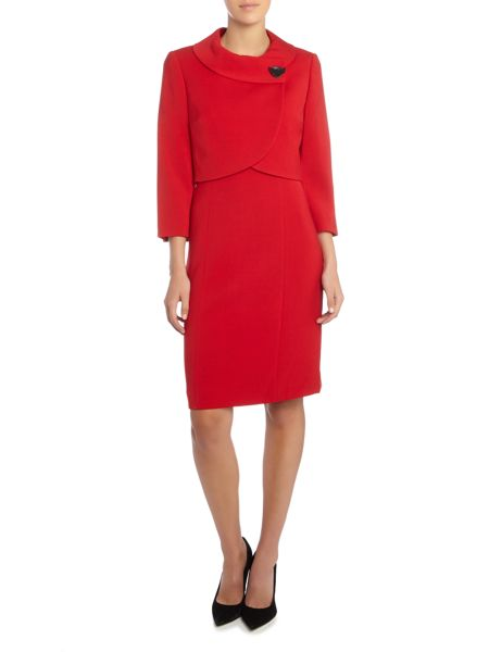 Tahari ASL Red Dress and Jacket Co-Ordinate