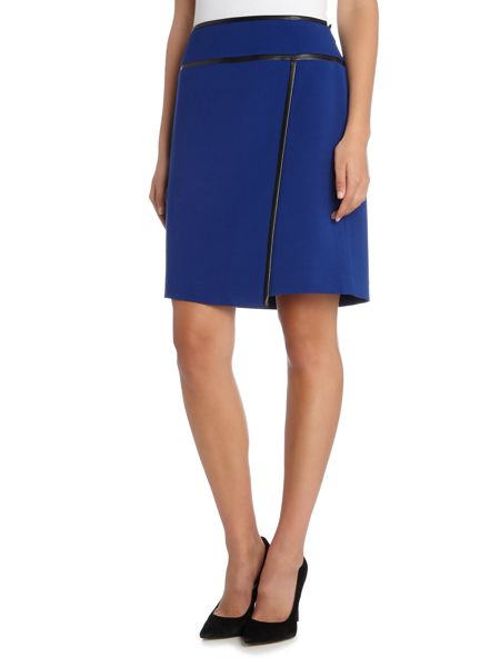 Tahari ASL Wrap Skirt with Pleather Details