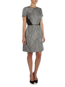 Tahari ASL Patterned Shift Dress