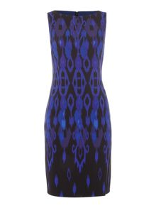 Tahari ASL Patterned Bodycon Dress