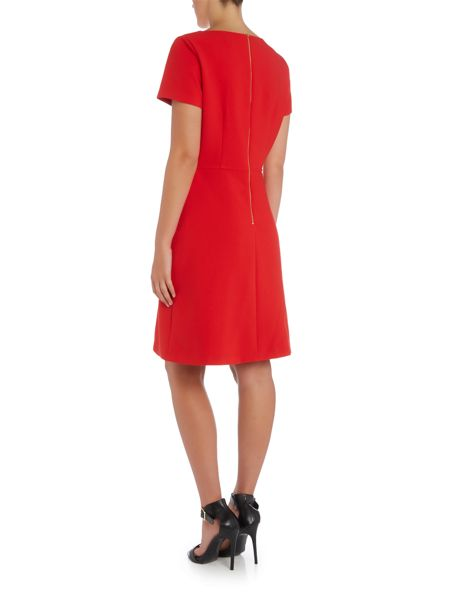 Tahari ASL Short Sleeved Fit And Flare Dress