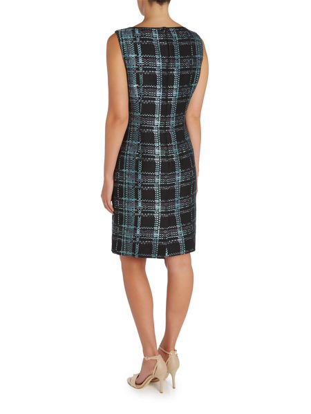 Tahari ASL Check Shift Dress