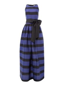Tahari ASL Gorgeous Striped Print Gown