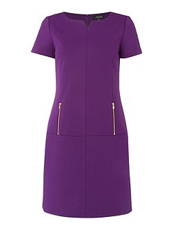 Shift Dress with Zip Pockets
