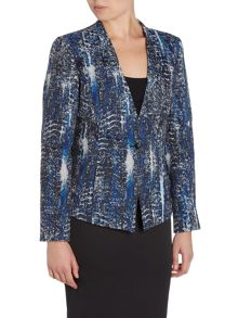 Tahari ASL Patterned Tailored Blazer