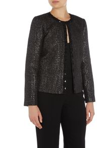 Tahari ASL Embelished long sleeve jacket