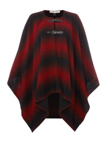 Tahari ASL Striped Textured Knit Poncho