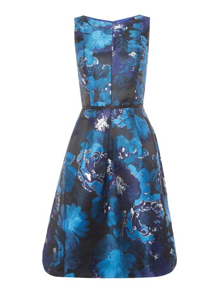 Tahari ASL Floral Print Fit And Flare Dress