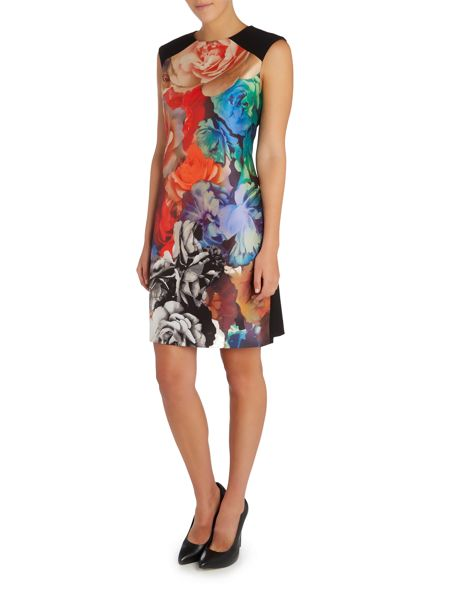 Tahari ASL Colourful Patterned Dress