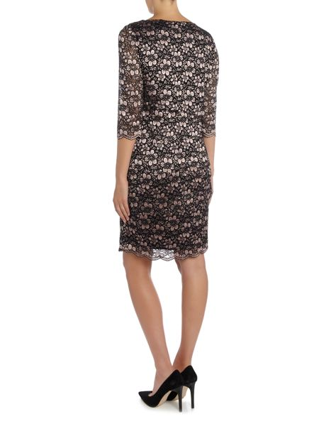 Tahari ASL Long Sleeved Lace Dress