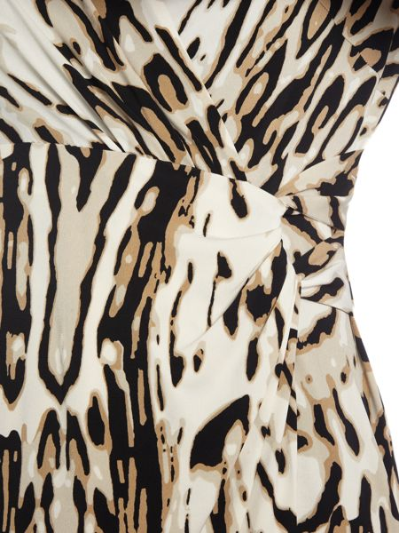 Tahari ASL Leopard Print Dress