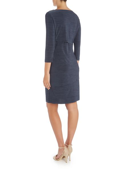 Tahari ASL Jersey Long Sleeve Dress