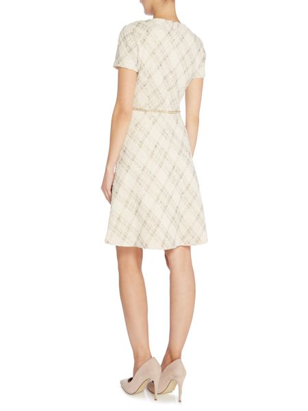 Tahari ASL Fit and Flare Short Sleeved Dress