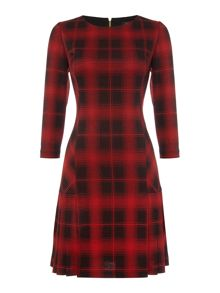 Tahari ASL Plaid Skater Dress
