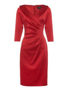Tahari ASL Long Sleeved Knee Length Dress