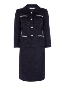 Tahari ASL Skirt Suit In Navy