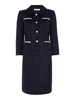 Skirt Suit In Navy