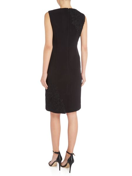Tahari ASL Black Short Sleeved Dress