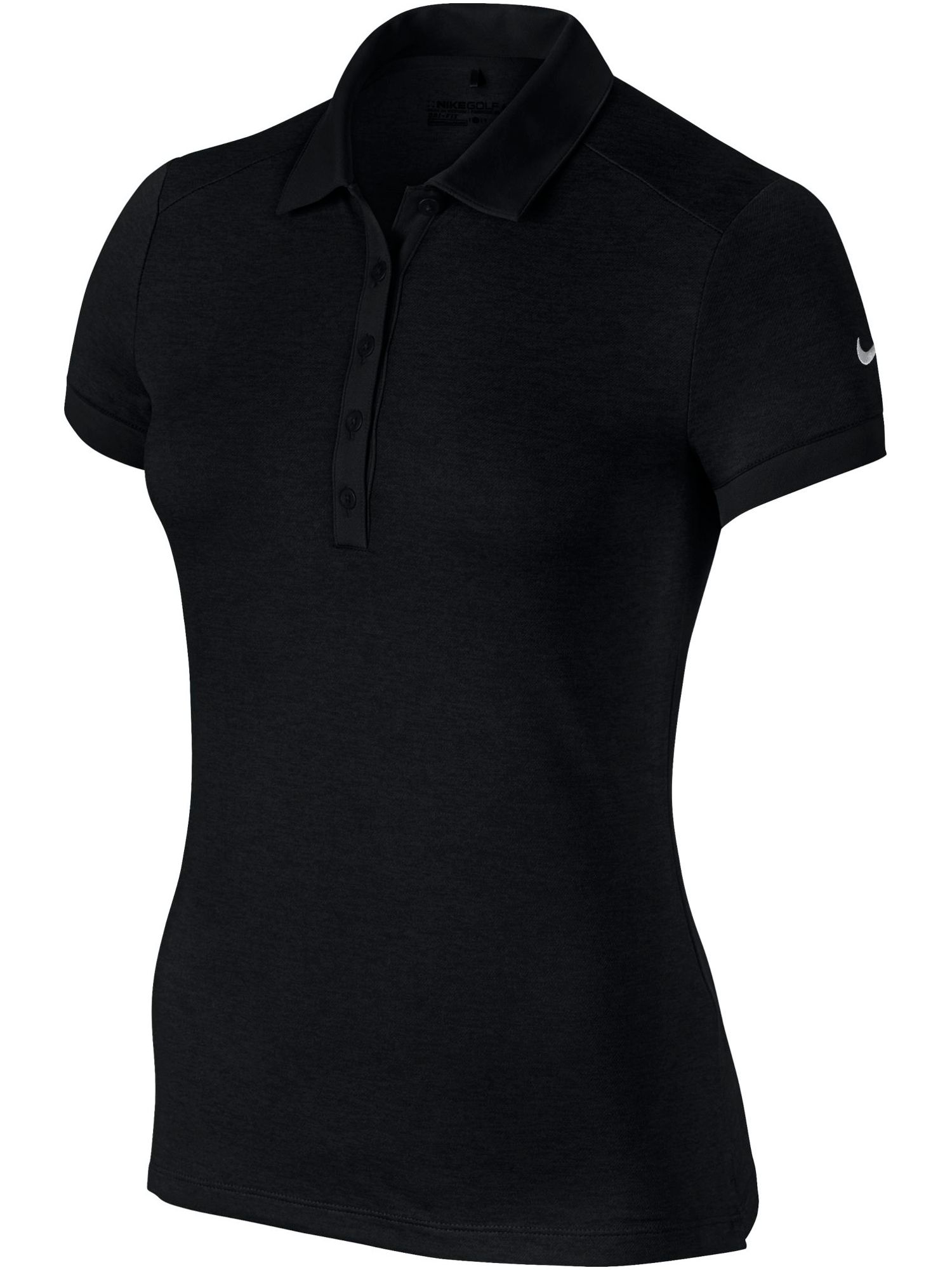 Nike Golf Icon Heather Golf Polo, Black